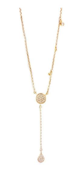 Colgante Corbatero En Oro Rosa 18k Diamantes Talla Brillante