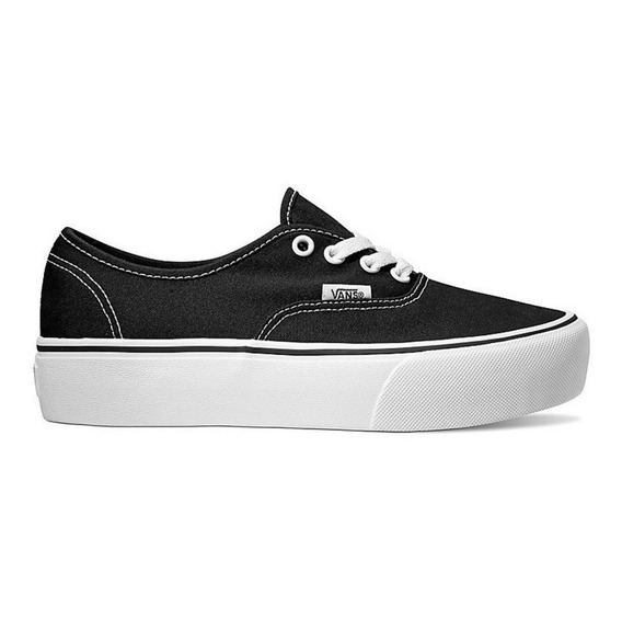 Zapatilla Vans Authentic Plataforma 100%original Lona Negra