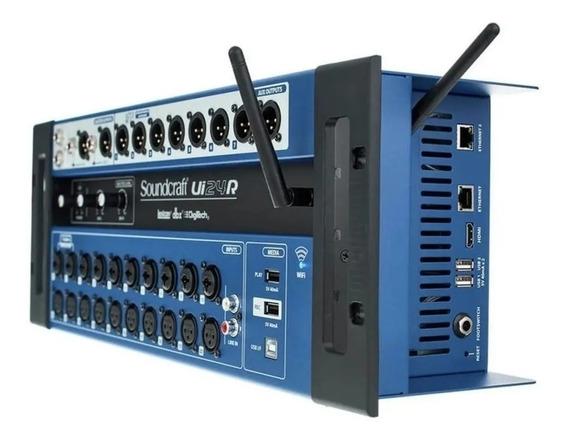 Mesa Som Digital Soundcraft Ui24r Garantia 1 Ano Ui 24r Nf-e