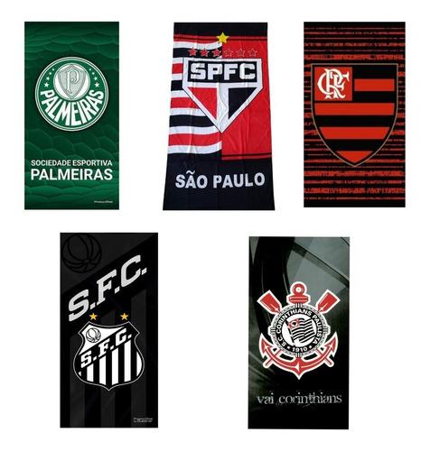 Toalha Praia Banho Gigante Santos Sao Paulo Palmeiras Corint