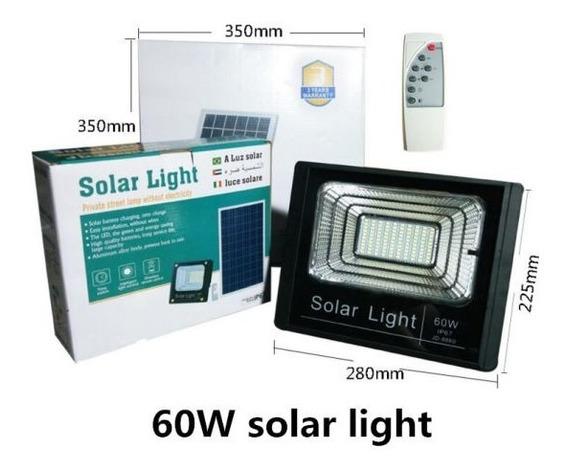 Foco Solar 60w Flood Light Con Control Remoto