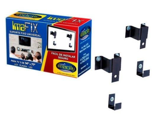 Kit Com 5 Suportes Fixo Universal Imafix P/ Tv