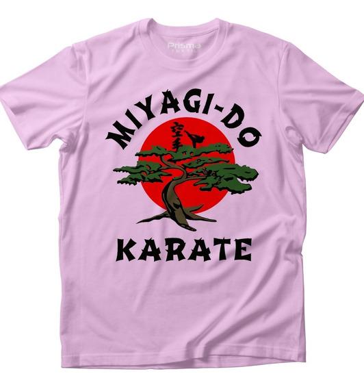 Miyagi Do Karate Kid Cobra Kai Playera Dama Rosa