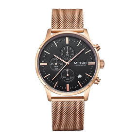 Clearance On Sale Mens Rose Gold Mesh Stainless Steel Chr