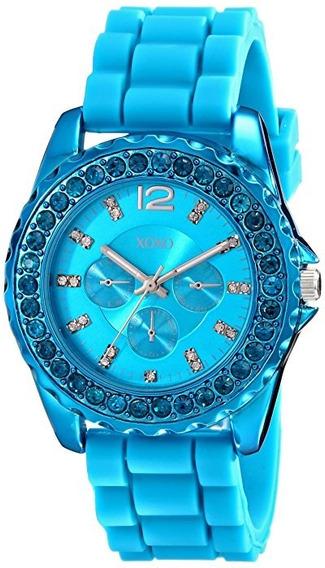 Reloj De Mujer Xoxo Modelo Xo8043 Azul