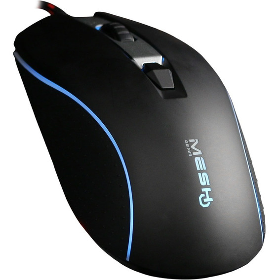 Mouse Gamer Mesh Gear Horus Usb Óptico 4.000dpi Rgb 4 Botõe