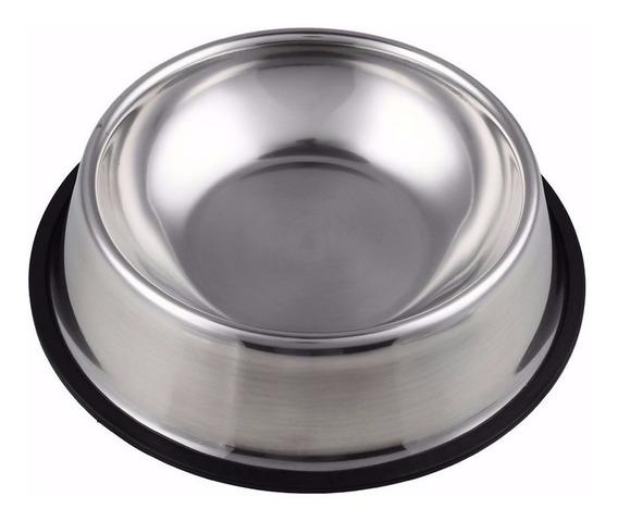 Kit 5 Comedouros Bebedouro Pote Inox Ração Cães E Gato 700ml
