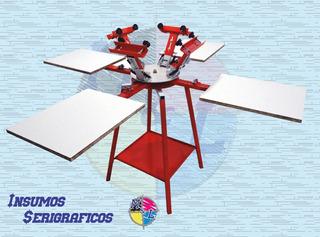 Calesita Textil O Pulpo Serigrafico 4x4 Industrial Oferta!!!