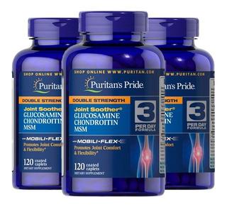 Glucosamina Condoitrina Msm 3x 120 Tabletes - Puritans Pride