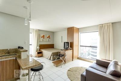 Studio No 12º Andar Mobiliado Com 1 Dormitório E 1 Garagem - Id: 892914716 - 214716