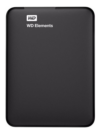 Disco rígido externo Western Digital WD Elements Portable WDBU6Y0020BBK 2TB preto
