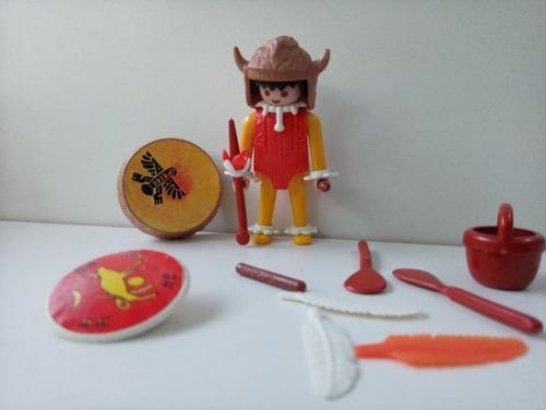 Muñeco Playmobil Cacique, Retro, Vintage, 1974