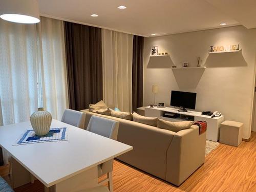 Apartamento Com 2 Dormitórios À Venda, 58 M²- Vila Valparaíso - Santo André/sp - 12526