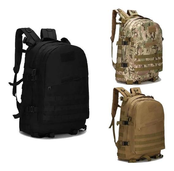 Mochila Tactica Asalto Militar Trekking Seguridad Hb Amplia