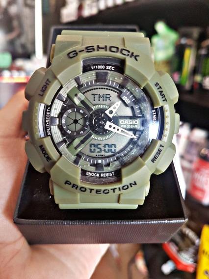 Relógio Imp G- Shock Verde Fosco Prov D Água