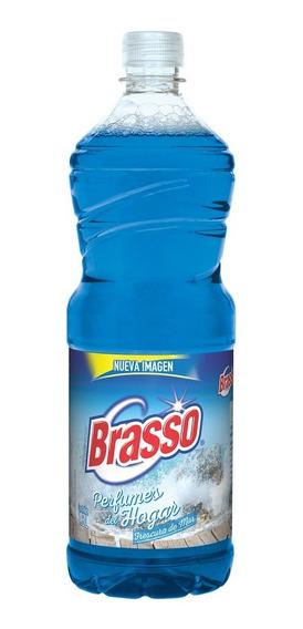 Brasso Limpiador Antibacterial Pisos Frescura De Mar 1800ml