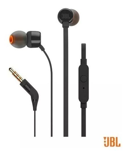 Fone De Ouvido Jbl T110blk In Ear Intra Original Preto S/j