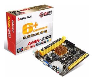 Tarjeta Madre Biostar A68n-2100 Procesador Amd Apu E1-210 /v