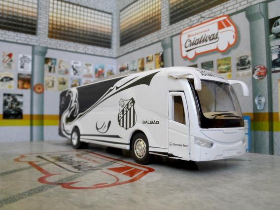 Miniatura Ônibus Santos Baleião - Time De Futebol - Em Metal