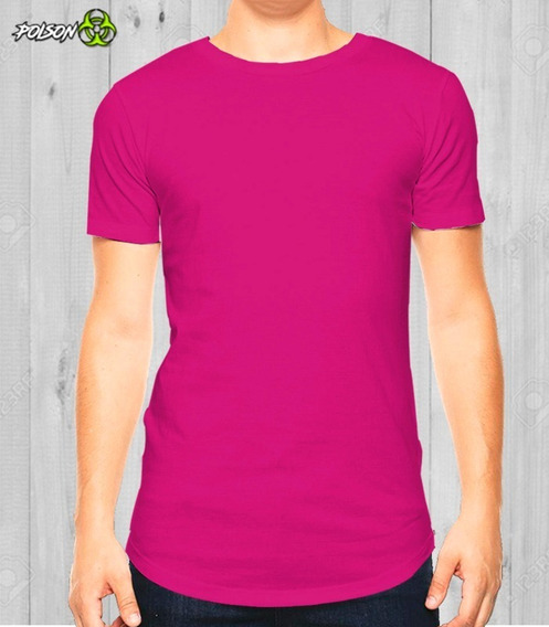Playera Premium Cuello Redondo Dryfit! Hombre Fucsia