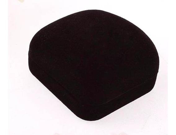 Caja Tercipelo Anillo Joyeria Color Negro