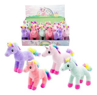 Peluche Unicornio Pony Parado 15 Cm Lila La Plata