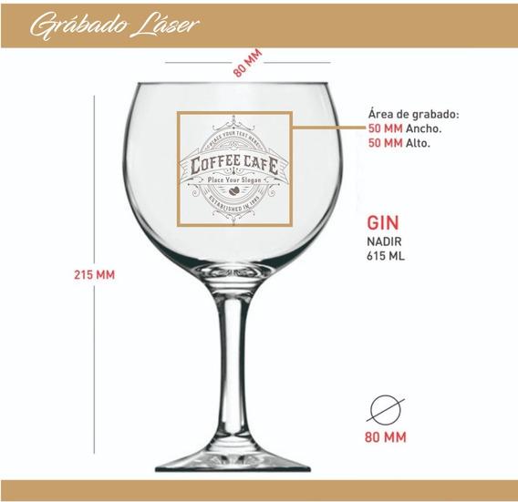 Copa Gin Tonic Personalizado Grabado X6u Copas Tragos Barman