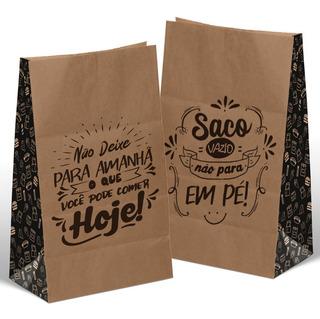 Saco Kraft Médio Para Delivery, Viajem Reforçado 100un