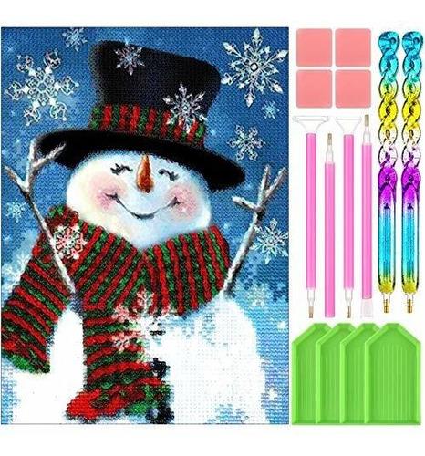 5d Diy Kit Pintura Diamantes Navidad Adultos Llenos Artesan