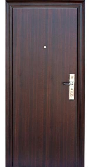 Puerta Seguridad Multianclaje 2050x860x70 Color Simil Madera