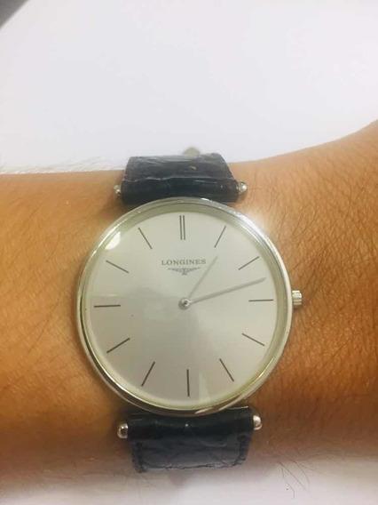 Relógio Suíço Longines Original Em Aço