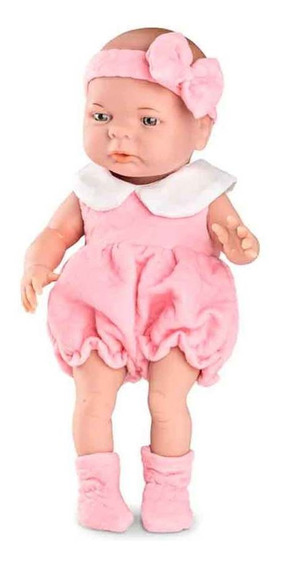 Boneca Bebezinho Real Newborn Menina Com Mamadeira Roma