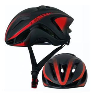Capacete Tsw Team Plus 57-61 Vermelho Bike Bicicleta Speed
