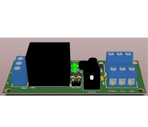 4 Pçs Placa Relé 12v Com Proteção - Sen-j15 Jasf Electronics