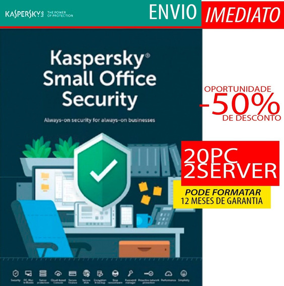 Kaspersky Small Office Security 20 Pc + 2 Servidores