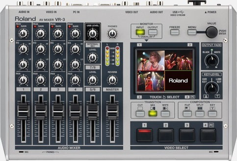 Mixer De Vídeo Roland Vr-3 De 5 Canais Para Streaming