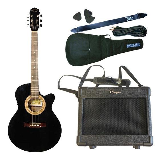 Guitarra Electroacustica Gracia 300tvd + Ampli Portatil 9v