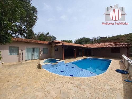 Imagem 1 de 30 de Linda Chácara Com 2 Dormitórios, Piscina Aquecida, Espaço Gourmet,  À Venda, 1700 M² Por R$ 430.000 - Rural - Socorro/sp - Ch0228