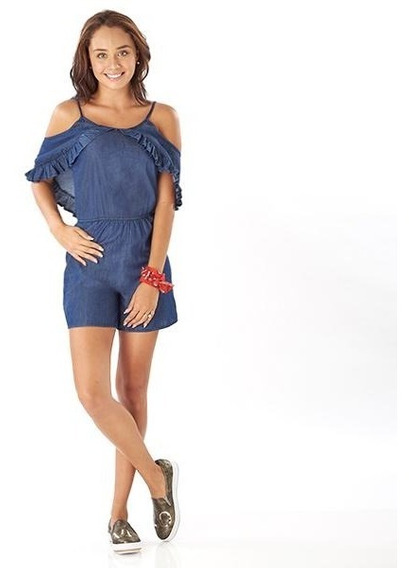 Conjunto Dama Corto Azul Mezclilla Mundo Terra 014400