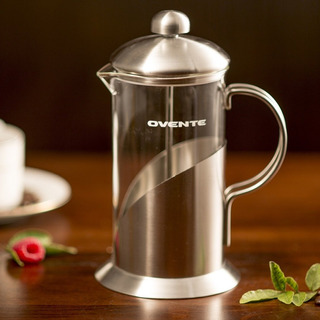 Ovente French Press Cafetière Cafetera Y Tetera, Acero In