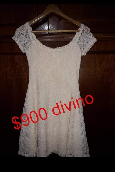 Forever21 Vestido Fiesta Casamiento Encaje Talle M