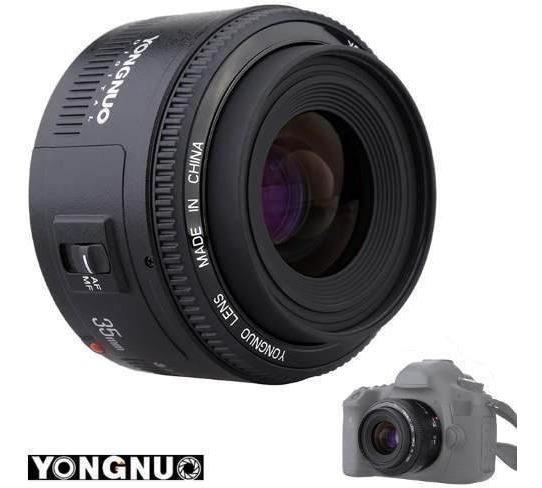 Objetiva Lente 35mm Show Filmagens Fotografia F2.0 Yongnuo