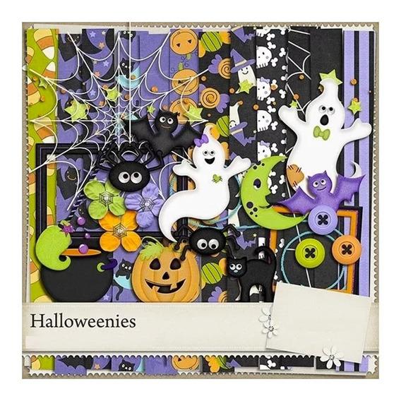 Kit Digital Halloween Papeles Imagenes Letras Scrapbook