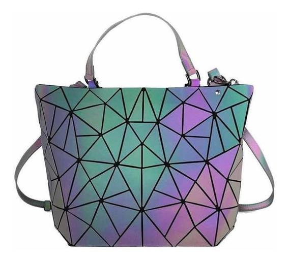 Bolsa Geométrica Extra Grande xl Tipo Bao Bao Tornasol