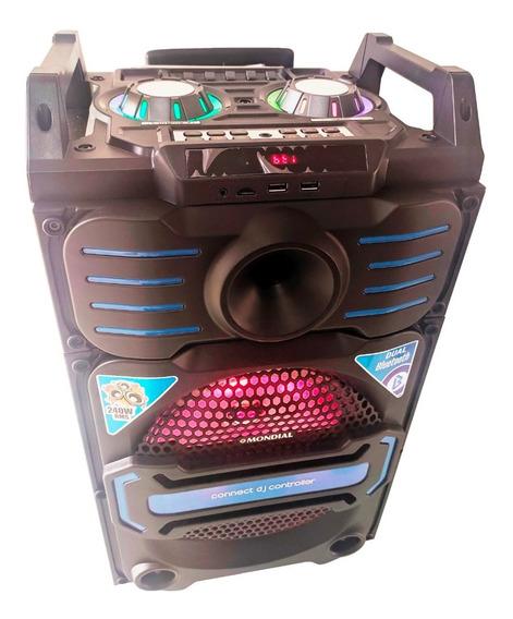 Caixa De Som 240w Rms Mic Bluetooth Fm Usb Cartão Subwoofer