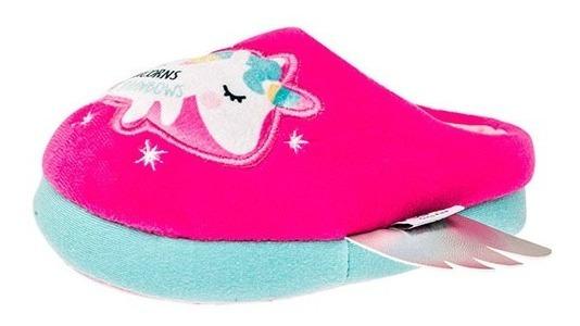 Pantuflas Niña Unicornio Rosa Fiusha Comoda Comoda Y La Moda