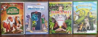 Lote Dvds: O Cão E A Raposa, Jumanji, Monstros Sa, Shrek 2