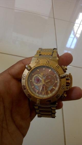 Invicta Modelo 14455 Fundo Ouro 18kl