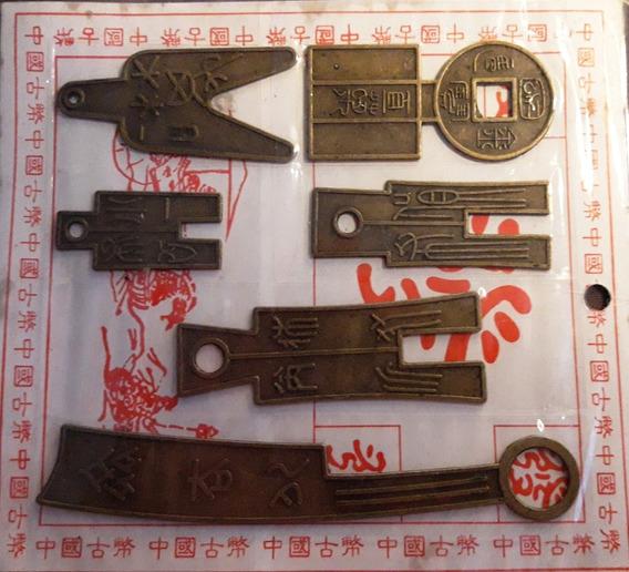 Set De 6 Réplicas De Monedas Chinas Antiguas