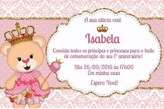 Convite Personalizado E Digital Ursa